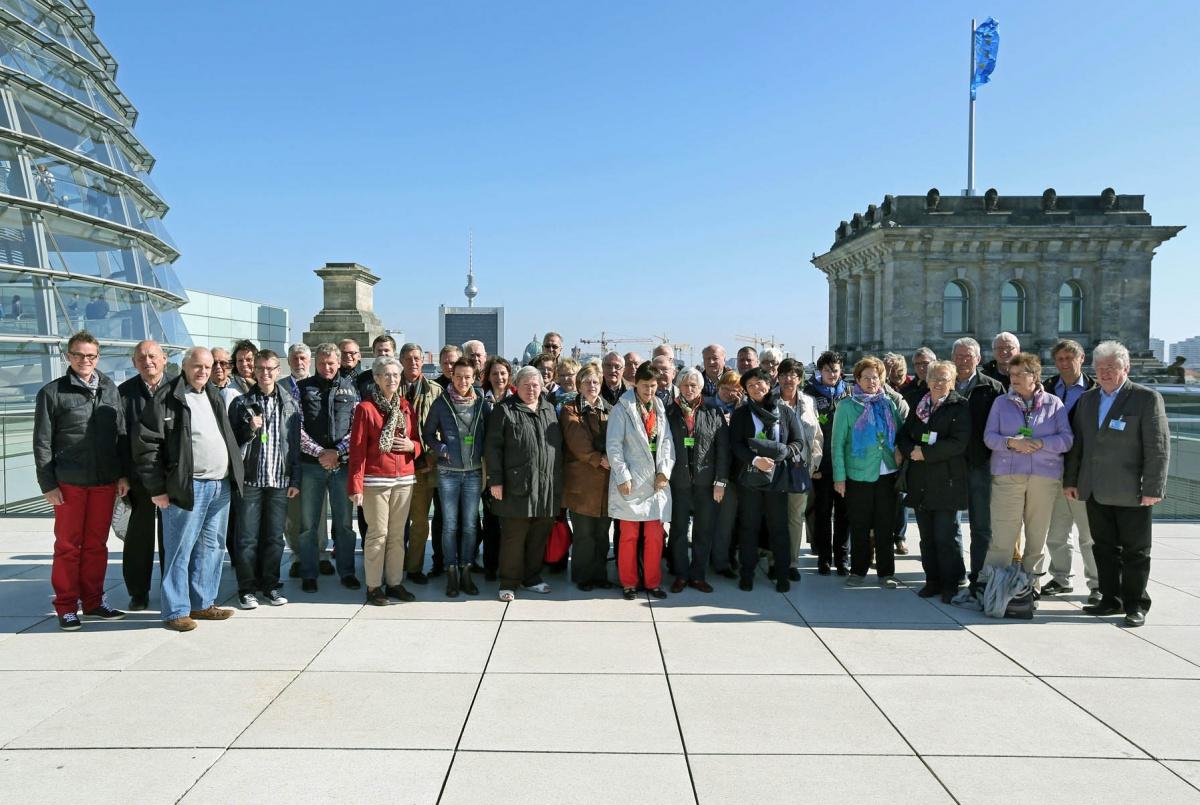 Besuch des Reichstages am 3. Oktober 2013